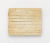 Merlin Carpenter. Important Title, 2017. Wooden pallet. 99 x 123,5 x 13,5 cm