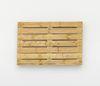 Merlin Carpenter. Political Title, 2017. Wooden pallet. 80 x 120 x 14 cm
