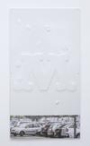 Mad Font, 2017. Vacuum formed PVC, aluminium frame, UV print, lacquer. 170 x 92 cm