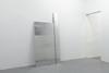 Untitled (hinge), 2012. Aluminum, steel. 250 x 127 cm