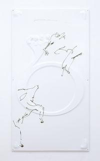 Goat Ligature, 2017. Vacuum formed PVC, aluminium frame, UV print. 170 x 92 cm