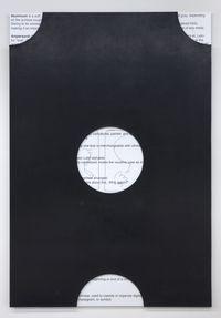 Untitled (A), 2015. Aluminum honeycomb panel, reinforced rubber sheet, thread screws, UV print. 150 x 103 cm