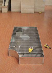 Plumbers Box, 2017. Aluminum, steel, various materials. 200 x 100 x 25 cm