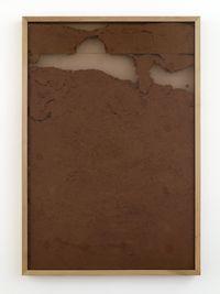 Untitled, 2016. Wood, acrylic glas, silicone caulk. 126 x 87 x 6 cm