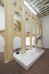 Untitled, 2014. Latex, cotton. 437 x 838 x 152 cm