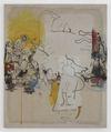 Julia Haller. Untitled, 2013. Acrylic, acrylic ink, fabric colour and bone glue on linen. 96 x 80 cm