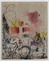 Julia Haller. Untitled, 2013. Acrylic, acrylic ink, fabric colour and bone glue on linen. 75 x 61 cm