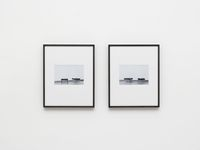 Notes on Site Specificity (Documentation), 2006. Archival inkjet print. 2 parts, each 54 x 44 cm (framed)