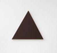 Feminism/Burgundy, 2010. Coated MDF, chestnut frame. 56,5 x 64,8 cm