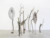 Shelly Nadashi. Trees, 2014. Papier-mâché, wood sticks and metal stands. Variable dimensions