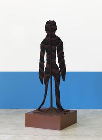 Leaf Figure, 2015. Fabric on metal stand, 142 × 60 × 60 cm