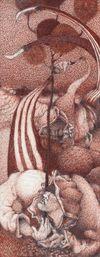 Till Megerle. Untitled, 2017. Ink, pencil on paper. 31 cm x 12 cm