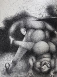 Untitled, 2016. Charcoal on paper. 56 cm x 42 cm