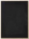 Julia Haller. Untitled, 2014. Bone glue, chalk, ferric oxide, gesso on linen, laser engraving on glass, oakframe. 76 x 55 cm. Passion, 2014. Christian Andersen, Copenhagen