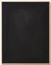 Julia Haller. Untitled, 2014. Bone glue, chalk, ferric oxide, gesso on linen, laser engraving on glass, oak frame. 66 x 51 cm. Passion, 2014. Christian Andersen, Copenhagen