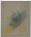 Julia Haller. Untitled, 2013. Boneglue, gouache, watercolor, textile colour on linen. 63 x 53 cm