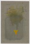 Julia Haller. Untitled, 2013. Boneglue, gouache, watercolor, textile colour on linen. 59 x 39 cm