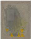 Julia Haller. Untitled, 2013. Boneglue, gouache, watercolor, textile colour, acrylic ink on linen. 70 x 56 cm