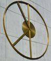 Peace Clock, 2016. Brass, clock motor. ø 500 cm. Trygve Lie Plaza, New York