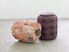 Torso, 2016. Glazed stoneware and pouf. 60 x 70 x 107 cm