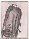Shelly Nadashi. Backpack, 2014. Charcoal and gouache on papir, metal frame. 77,2 x 57,2 cm