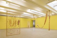Installation view. From Searching: Mirroring/ Metamorphosis/ The Last Rinsing Water/ A Yellow Room/ Perpetual Movement/ A Kind of Thorough Rinse/ Artificial Colour, 2018. Kohta, Helsinki