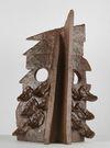 Shelly Nadashi. Heavy Birden, 2016. Gas-fired clay and wood ash glaze. 40 x 30 x 30 cm
