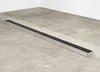 Benjamin Hirte. Gutter/Rinne, 2017. Aluminum, steel, various materials. 18 x 250 x 25 cm