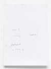 Untitled text (like notes), 2012. Mixed media on paper, Plexiglas case. 88 x 72 x 8 cm (detail)