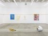 Installation view. In original violet/ Influenced transparent/ Feeling emerald/ Affected by honey yellow/ Worker bee/ Under influence of chestnut red/ Singing pastel dust, 2017. Christian Andersen, Copenhagen