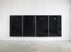 Hans-Christian Lotz. Rain over Water, 2017. Aluminum, glass, plastics, latex print, pig brains, pumice, RFID-tag. Each panel 163 x 98 x 4 cm
