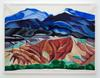 Miriam Visaczki. Berge: Georgia O'Keefe, 2014. Watercolor on stucco plaster. 70 x 93 cm