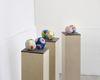 Miriam Visaczki. Carved Stone Balls (proactive), 2015. Clay, watercolour. Each ball 10 x 10 x 10 cm