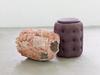 Carl Mannov. Torso, 2016. Glazed stoneware and pouf. 60 x 70 x 107 cm