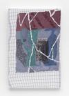 Carl Mannov. Vases with case, 2016. Acrylic on dishcloth. 61 x 40 cm