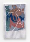 Carl Mannov. Pots with vase, 2016. Acrylic on dishcloth. 61 x 40 cm