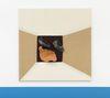 Shelly Nadashi. Leaves, 2015. Glazed and naked ceramic on canvas. 120 x 120 cm
