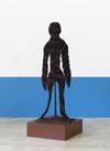 Shelly Nadashi. Leaf Figure, 2015. Fabric on metal stand. 142 × 60 × 60 cm