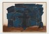 Tom Humphreys. Blue Church, 2016. Acrylic, charcoal, pigment on canvas. 113.40 x 163.20 cm