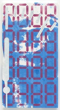 88.8888, 88.8888 APPL3, 2018. Acrylic on cotton and polyester-polyamide. 115,3 x 61 x 3 cm