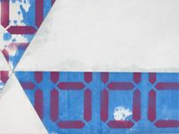 88.8888, 88.8888 RAD3, 2018. Acrylic on cotton and polyester-polyamide. 115,3 x 61 x 3 cm (detail)