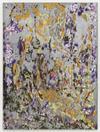 Iris, 2018. Gesso, aluminium and oil on canvas. 150 x 200 cm