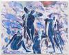 Megan Francis Sullivan. Quatre Baigneuses, 1890, New Carlsberg Glyptothek, Copenhagen (Inverted), 2016. Oil on canvas. 73 x 92 cm. Subsets, 2019. Christian Andersen, Copenhagen