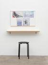 Megan Francis Sullivan. La bâtarde (reflections), 2017. Oil on canvas, birch multiplex board, plastic and metal. 135 x 100 x 45 cm. Subsets, 2019. Christian Andersen, Copenhagen