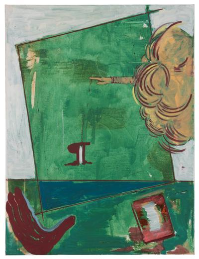 Rasmus Nilausen. Landscaping, 2019. Oil on linen. 80 x 60 cm