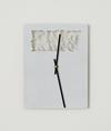 Benjamin Hirte. Untitled (The Realist, The Post JFK Issue), 2014. Aluminium and clockwork. 28,5 x 21,7 cm