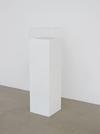 Dexter Sinister. Vanity Acid Blotter, 2012. Blotting paper and plinth. 113,5 x 30 x 30 cm