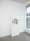 Benjamin Hirte. Untitled, 2014. Silk screen print on radiator. 200 x 70 x 14 cm