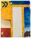 Rasmus Nilausen. Memorial Gate, 2019. Oil on linen. 200 x 160 cm
