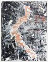 Morten Skrøder Lund, Untitled, 2015. Acrylic, oil, tin solder on canvas. 180 × 140 cm